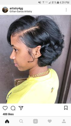 80 Bob Hairstyles To Give You All The Short Hair Inspiration - Hairstyles Trends Black Girls Hairstyles, Pretty Hairstyles, Bob Hairstyles, Straight Hairstyles, Relaxed Hair Hairstyles, Love Hair, Gorgeous Hair, Curly Hair Styles, Natural Hair Styles