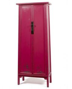 Tall Chinese Cabinet in hot pink - fun!