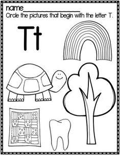 Preschool Lesson Plans, Preschool Education, Preschool Printables, Preschool Worksheets, Preschool Learning, Beginning Sounds Kindergarten, Kindergarten Writing Activities, First Day Of School Activities, Nursery Worksheets