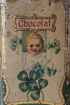 Vintage Moka Williot chocolate tin