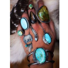Sterling, Brass, and Turquoise Jewelry by Appaloosa Designs