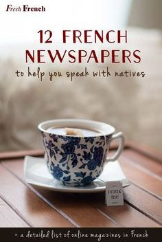 12 French newspapers to help you brighten the conversation Many students asked me for tips on which French newspapers to read so they can easily start a conversation at work or at a party. French Language Lessons, French Language Learning, Learn A New Language, French Lessons, Spanish Lessons, Spanish Language, Learning Spanish, Spanish Activities, Learning Italian