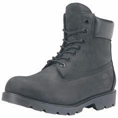 Timberland - Men's 6 Inch Basic Waterproof Boot - Black Nubuck