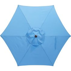 Hampton Bay 7-1/2 ft. Steel Patio Umbrella in Periwinkle
