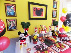 Mickey Mouse birthday party! See more party planning ideas at CatchMyParty.com!