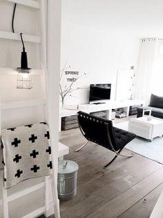 Monochrome interior trend. #decor