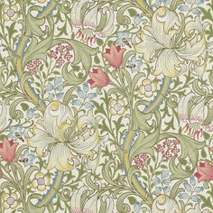 Tapete Goldlilie von Morris & Co.-1698