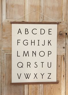 We're of the opinion that every house with little ones needs Alphabet wall art somewhere! We have ours next to the changing table in our nursery, but this minimalist, ready to hang canvas print can fit anywhere in your home.