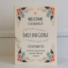 Custom Wedding Order of Service Contemporary by papertreemedia