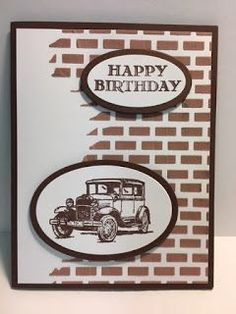 My Creative Corner!: Guy Greetings, Masculine Birthday Card, Embossing Paste Technique, Stampin' Up!, Rubber Stamping, Handmade Cards