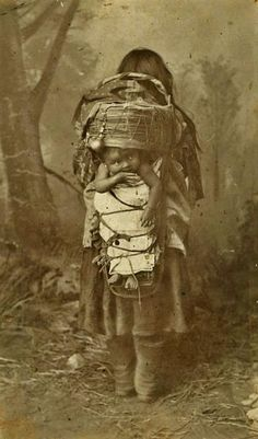 San Carlos Apache mother and child - 1886  http://www.facebook.com/pages/Native-American-Indian-Old-Photos/10150102703945578