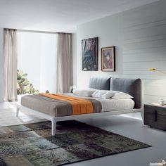 Doppelbett Oscar Plus mit zwei Kissen als Kopfteil - ARREDACLICK