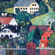 Gustav Klimt - Houses at Unterach on the Attersee, c. 1916.