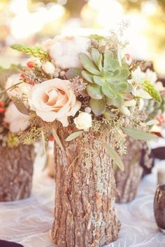 Outdoor Wedding Centerpieces, Succulent Centerpieces, Wedding Table Centerpieces, Wedding Decorations, Wedding Ideas, Trendy Wedding, Simple Centerpieces, Outdoor Weddings, Wedding Advice