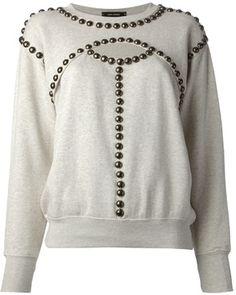 Isabel Marant studded cut out jumper on shopstyle.co.uk