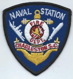 Charleston Naval Station Fire Dept Patch - New - SC - South Carolina ** Federal