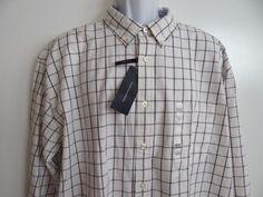 Tommy Hilfiger Mens White/Multi 100% Cotton Classic Fit L/S Shirt Sz XXL SALE  #TommyHilfiger #ButtonFront