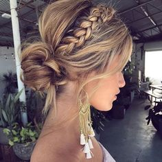 50 Fabulous Braided Updo Hairstyle Women Ideas - Up hairstyles - Frisuren Easy Summer Hairstyles, Up Hairstyles, Hairstyle Ideas, Formal Hairstyles, Everyday Hairstyles, Braided Front Hairstyles, Updo Hairstyles For Homecoming, Bridesmaid Updo Hairstyles, Prom Updo