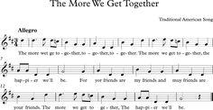 The More We Get Together. Canción Tradicional Americana