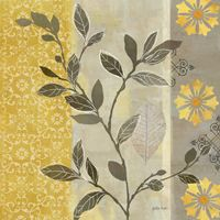 RB5215CC <br> Aspen Leaves Yellow Gray II <br> 12x12
