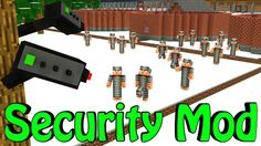 Minecraft | Base Defense Mod Showcase! (House Security, Security Camera'...