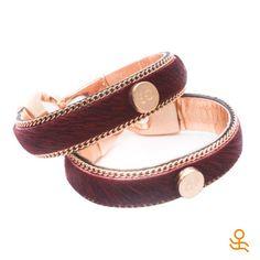 We're feeling the Halloween vibes with this oxblood horsehair and leather bracelet! | Ya estamos entrando en la onda del Halloween con estos brazaletes de pelo de caballo en color oxblood