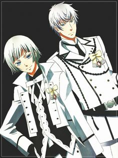Grey, Phips // Kuroshitsuji: Book of Murder Grey and Phips new names are: WHORE BITCH IN WHITE