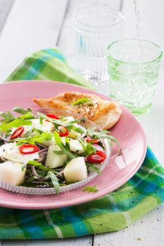 Hunajameloni-mozzarellasalaatti | K-ruoka