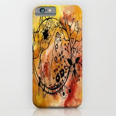 Abstract Acrylic Painting GIRAFFE iPhone & iPod Case