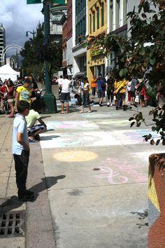 Art Chalk Art, Art Festival, Buffalo, Street View, Water Buffalo