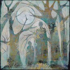 Art Painting on Canvas  original artwork10 x 10 by SueDavisStudio