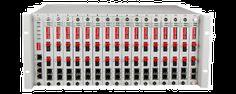 32 fiber optical directional 4U rack type fiber media converter, with SNMP managed function