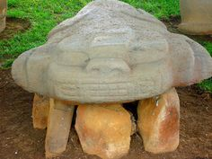 Image result for tierradentro pottery Garden Sculpture, Stones, Pottery, San, Statue, Outdoor Decor, Image, Colombia, Ceramica