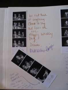 This will be our guest book. One strip for the guest and one strip for our album w a lil note from the guests