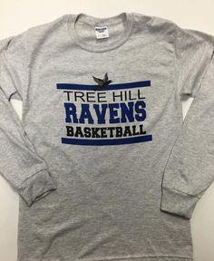One Tree Hill Fans!! One Tree Hill Ravens Basketball Long Sleeve Tee - novelty tee, Screened on 50/50 Jerzee Brand Unisex Tee