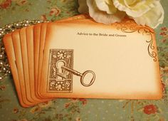 Advice for the Bride and Groom~ Wedding Advice Cards  By A Sweet Little Note