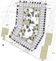 Plan of the Lange-Eng Co-Housing project in Copenhagen, Denmark. Click image for source & visit the slowottawa.ca 'Share It' board >> http://www.pinterest.com/slowottawa/share-it/