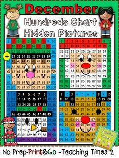 Ho, Ho Ho!!! Look who's coming to town? Your kiddos will have a jolly time coloring their Christmas hidden picture. Great for math centers and a great way to reinforce the common core standard- Numbers to 100. Unwrap these cute holiday activities!!!!!