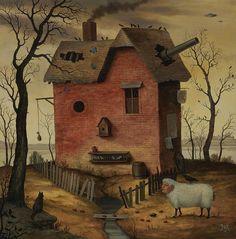Amazing modern surrealist painter Mike Davis at http://www.mikedavisfineart.com/