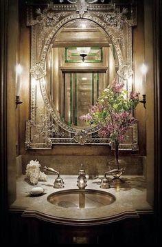 Beautiful Mirrors, Beautiful Bathrooms, Beautiful Homes, Dream Bathrooms, Country Bathrooms, Luxury Bathrooms, Master Bathrooms, Modern Bathrooms, Venetian Mirrors