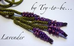Inspiration for Kumihimo (Looks like right-angle weave)?  Lavender Necklace by Sabine Lippert