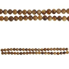 Bead Gallery Dyed Shell Round Beads, Amber