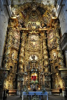 The Monastery of San Salvador de Celanova - province of Ourense, Galicia, Spain. It was founded by St. Rudesind (San Rosendo) in Baroque Architecture, Church Architecture, Beautiful Architecture, Beautiful Buildings, Architecture Details, San Salvador, Places Around The World, Around The Worlds, Les Religions