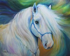 """Contemporary Painting - """"MADDIE the HORSE ANGEL"""" (Original Art from Marcia Baldwin)"""