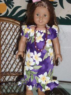 306b87fabb37c Traditional Hawaiian Mu'u Mu'u for your American Girl Kanani Nanea or other  18 inch doll
