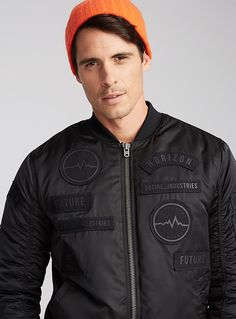 Discover our selection of outdoor jackets and vests for men and choose from our exclusive Simons styles or the biggest names in outerwear! Mens Outdoor Jackets, Bomber Coat, Men's Coats And Jackets, Plain Shirts, Men Online, Jack Jones, Vest Jacket, Casual Pants, Vests