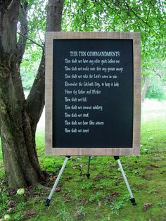 The Ten Commandments chalkboard framed by ourhousetoyours on Etsy, $80.00