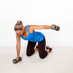 The Sexy Back Workout - 8 moves to banish bra bulge, back pain, and bad posture. By Jessica Smith. Straight-Leg Deadlift - Split Stance Extension - Alternating Dumbbell Row - Bow and Arrow - Kneeling Rear Fly - Opposite Arm and Leg Balance - Spine Extensi http://hiitfreaks.com/benefits-of-lifting-weights-for-females/