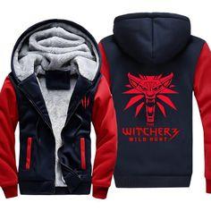 The Witcher 3 Wild Hunt Fleece Jacket - Red Wolf Jacket Hoodie