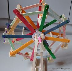 ferris wheel   popsicle sticks reverse career fair popsicle crafts craft